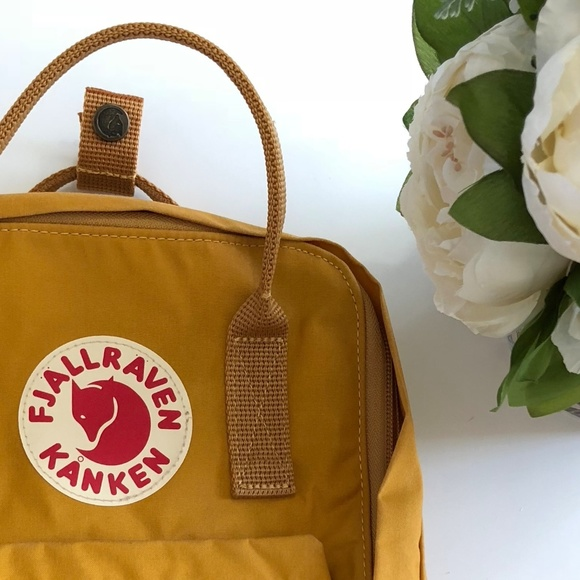 Fjallraven Handbags - FJALLRAVEN KANKEN MINI WARM YELLOW, WORN ONCE